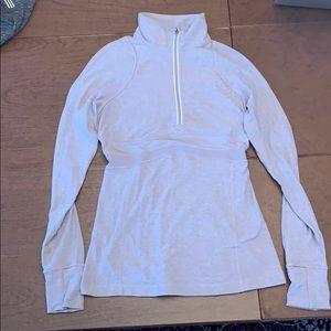 LULULEMON 1/4 zip grey long sleeve, super soft top